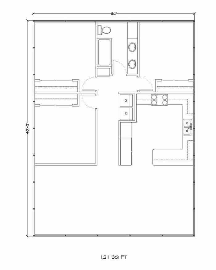 Large house kit floor plan