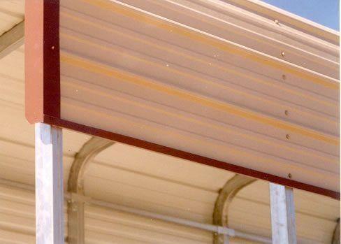 Metal carport trim