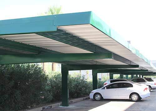 Full Cantilever Covered Parking Structure