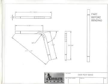 kit home steel frame side bend
