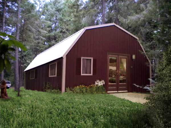 Kit homes exteriors be creative for Metal cabin kits