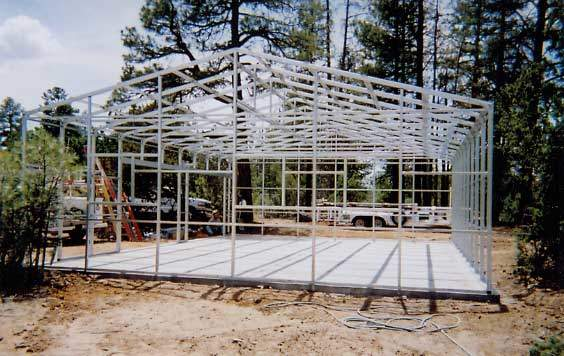 Kit homes steel frame system for Metal cabin kits