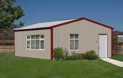 Steel kit homes and guest house kits for Metal cabin kits