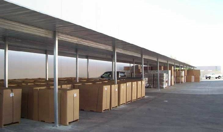 Commercial carports post and purlin system