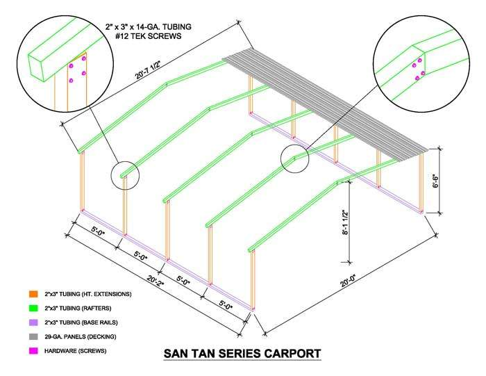 Carport Kits for the Budget Concious : Two Carport Sizes