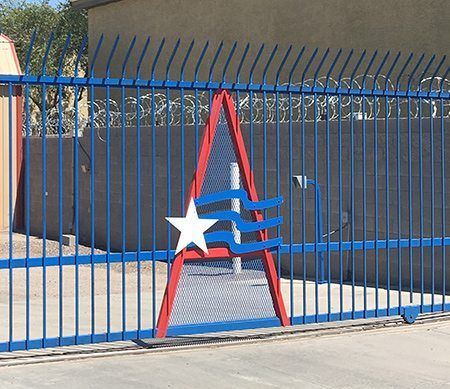 Secure automatic front gate
