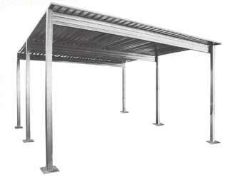 Steel single slope carport for Free standing carport plans