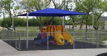 SoftTop Carport Used as Playground Cover