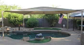 Large SofTop Creating Pool Shade