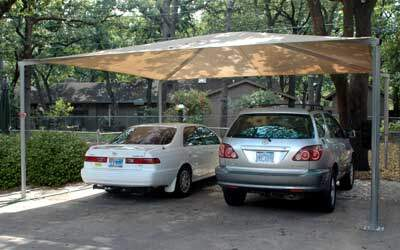 Shade canopy for carports, playgrounds, and more