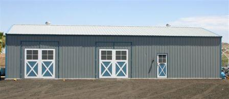 Barn style metal building