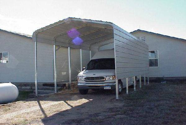 Rv Metal Carport Panels : One side rv cover with extra panels