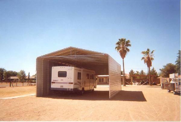 Carport With Partial End Enclosure