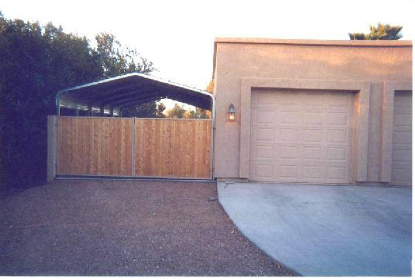 Carport With Gate Low Profile Hoa Compliant