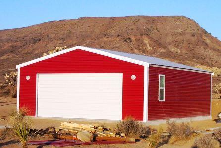 Red Steel Garage