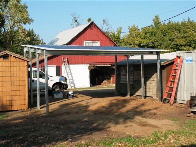 Absolute steel carport project examples for Single slope carport