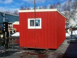 Portable metal storage building kit