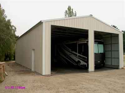 Steel rv garage california absolute steel for Metal rv garage