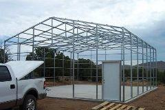 Storage building kits frame system