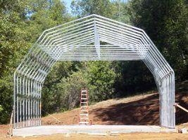 Gambrel barns frame