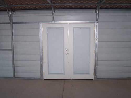 Patio Door Frame Out In A Metal Building