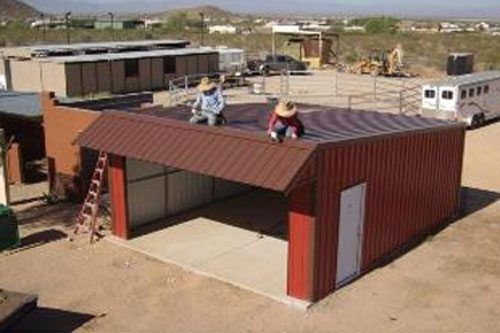 Saltbox style maricopa sytle garage kit for Metal building styles