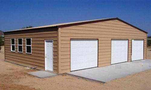 Ideas for residential metal garages for 3 car garage metal building