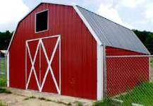 Gambrel metal storage building kits