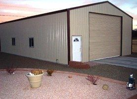 Metal RV storage building