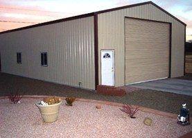 Metal RV storage building