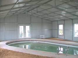 Pool Cover Pump House Building Kit Image
