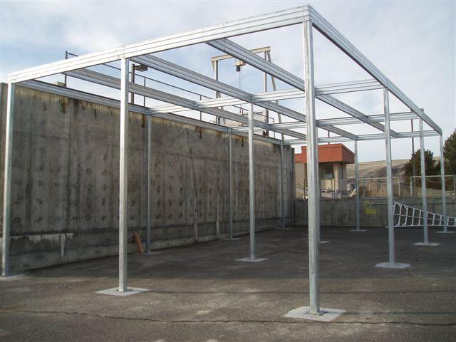 Shade Canopy Steel Frame Absolute Steel