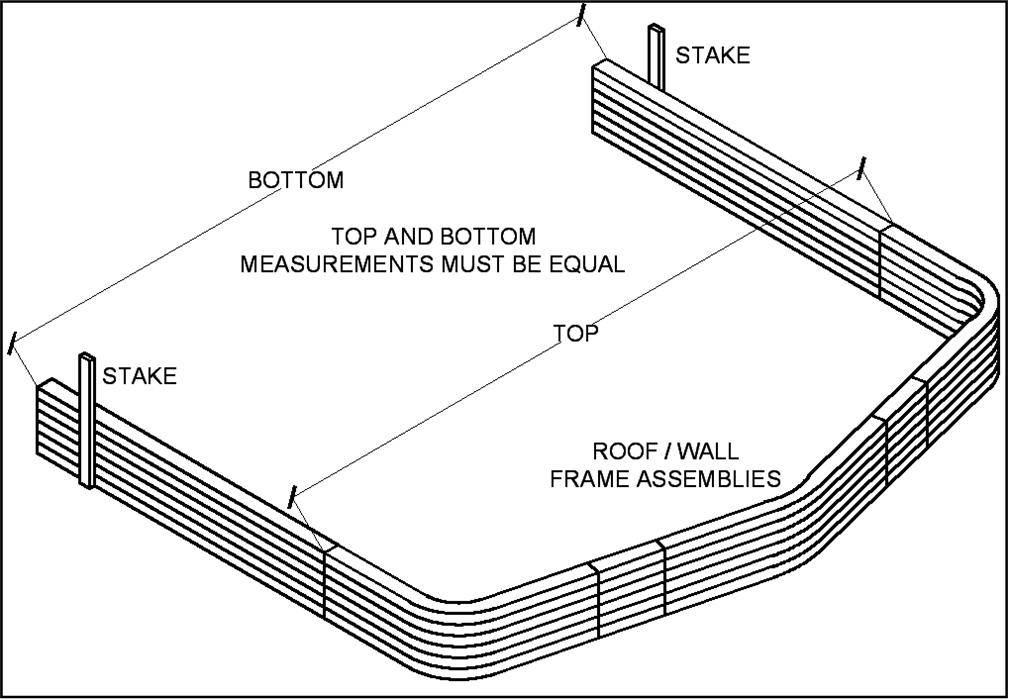 Roof wall Frame Assembly