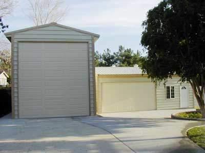 Steel building garage kit in california for Rv garage kits