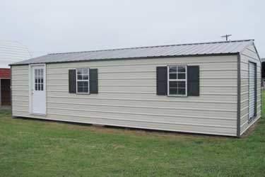 Standard pitched roof metal storage buildings