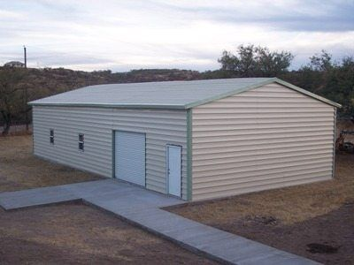 Steel Building with Garage Access