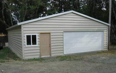 Steel building garage kit in napa california for Motorhome garage kits