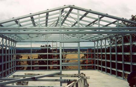 Steel frame building - skinless