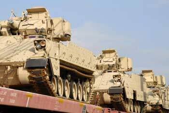 Military equipment enroute to Afghanistan