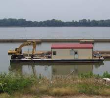 Steel barge house