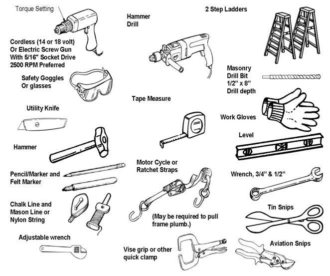 Metal building kit tools