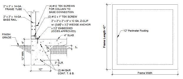Absolute Steel Structures Concrete Amp Foundation Requirements