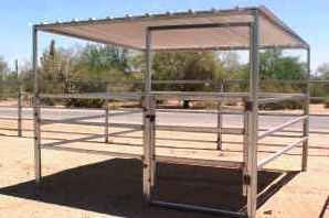 Easy Shade Livestock and Horse Shelter