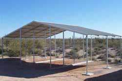 Continuous Slope Horse and Livestock Shelter