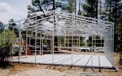 Steel frame garage kit