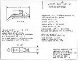 Drawings of MR 68