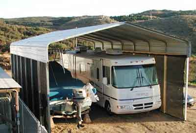 RV CARPORT IN ROMONA, CA
