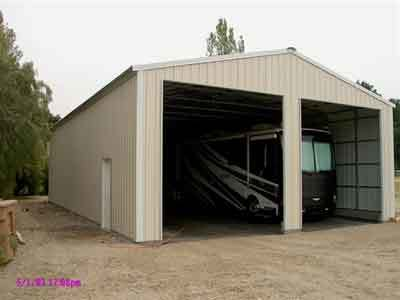 STEEL RV GARAGE IN CA. #2