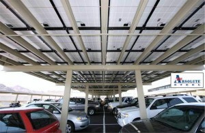 Commercial parking structure solar