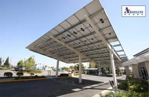 Solar canopy for commercial parking